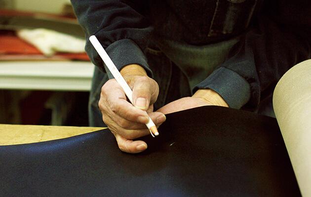 ランドセルの革の写真