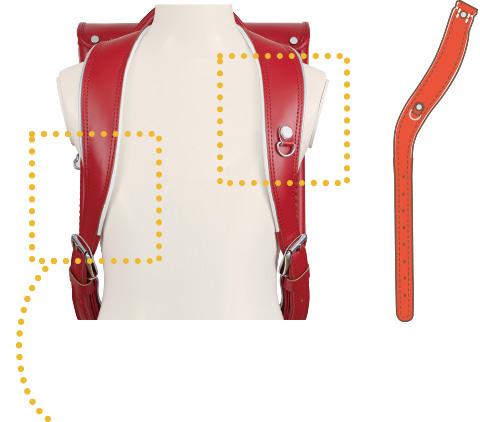 フジタ 体にフィットする肩ベルトの説明画像